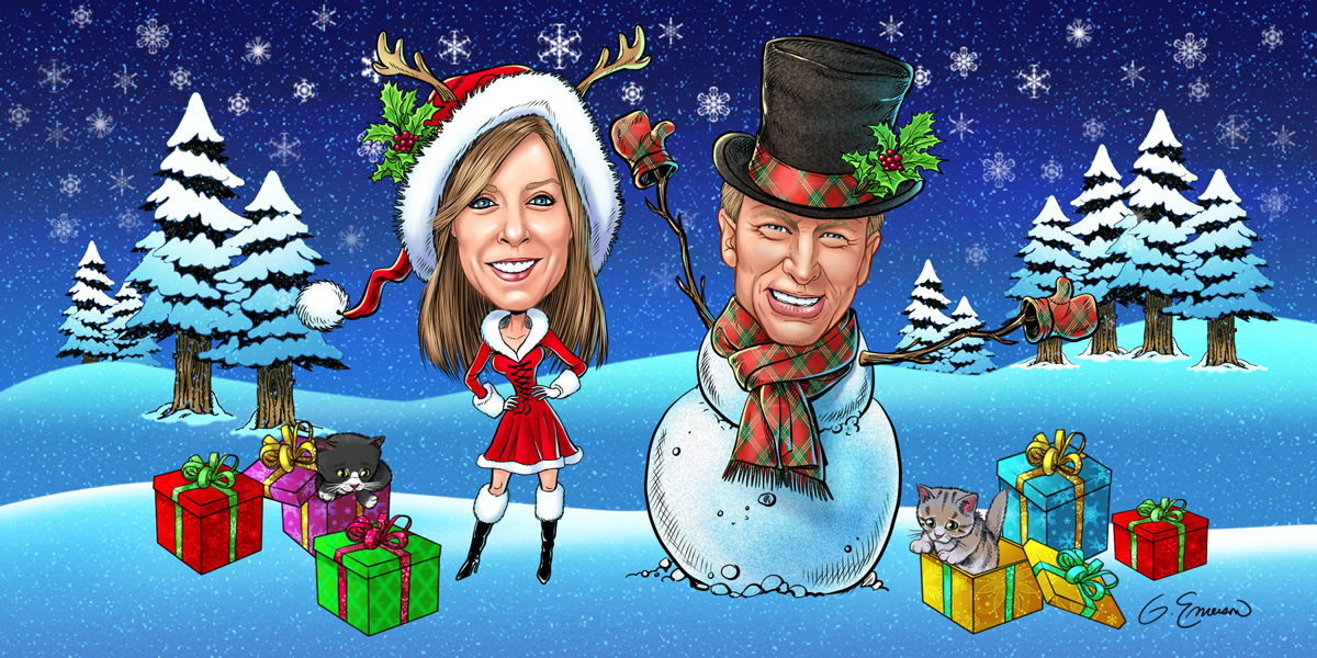Christmas Card Caricature